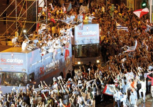 Celebración Por El Ascenso Del Real Club Celta De Vigo