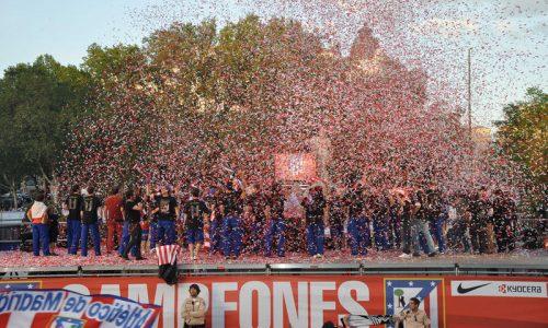 Celebración Del Atletico De Madrid Campeón De La Europa League 2012