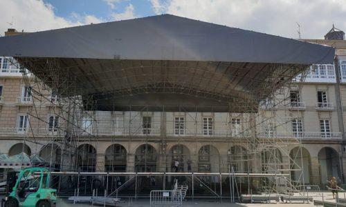 Montaje De Escenario En Festas María Pita 2018